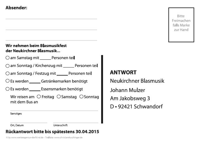 Oberpfalz Media Werbeagentur Dorfkind Neukirchner Blasmusik